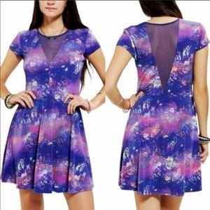 Kimchi Blue Galaxy Mesh Skater Dress